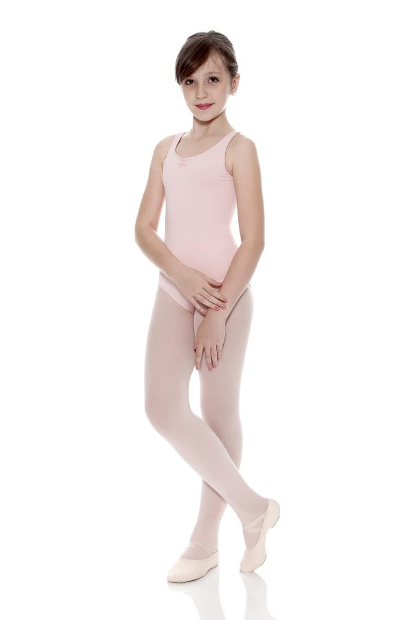 SoDanca – Child Tan Leotard in Microfiber – D6500